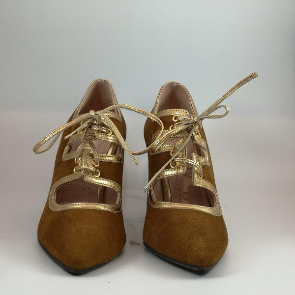 zapato mondo ante camel cordon ribete or