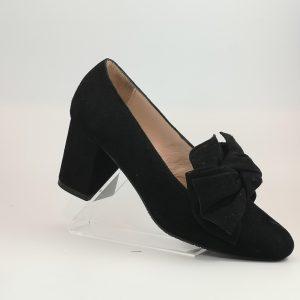 Zapato copete lazo negro